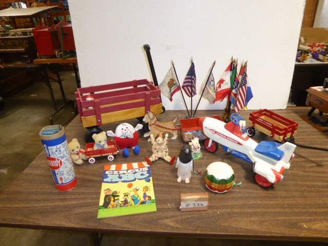 Lot # 336 - Wagons, Toys & Collectibles  (main image)