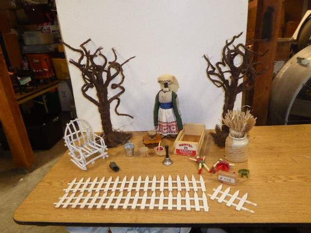 Lot # 338 - Decorative Trees, Doll Furniture & Acrobat Ornaments  (main image)