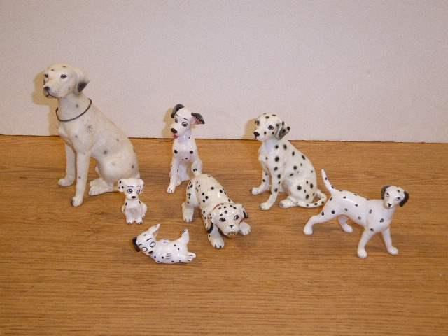 Lot # 339 - Collection Of Ceramic Dalmatian Figurines  (main image)