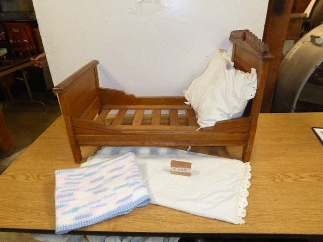 Lot # 345 - Wooden Doll Bed  (main image)