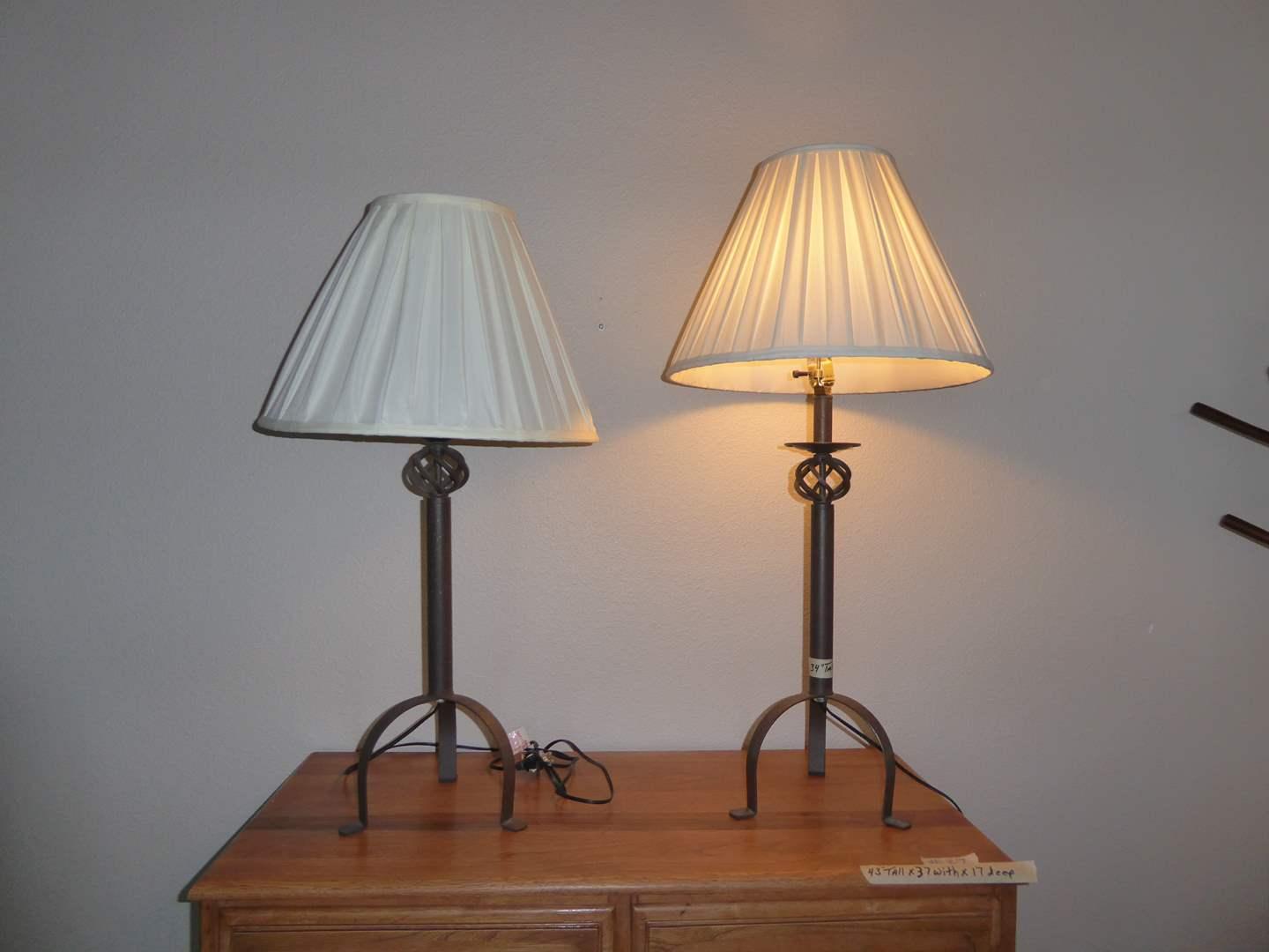 Lot # 29 - Two Metal Table Lamps  (main image)