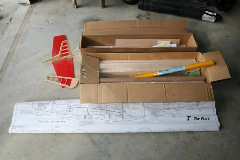 Lot #22 TF Top Flight Balsa Wood RC Airplane Model Kit (main image)