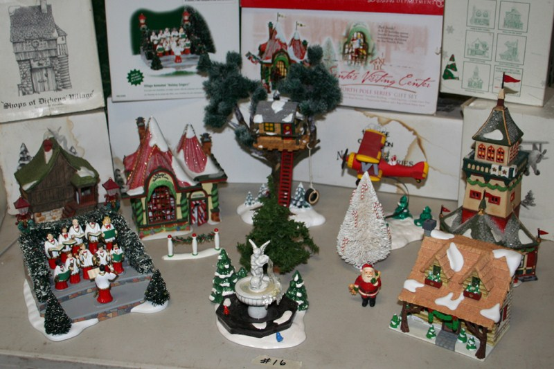 Lot #16 Department 56 Village Series: Santa's Visiting Center, Hideaway Hollow, Animated Holiday Singers & Much More (main image)
