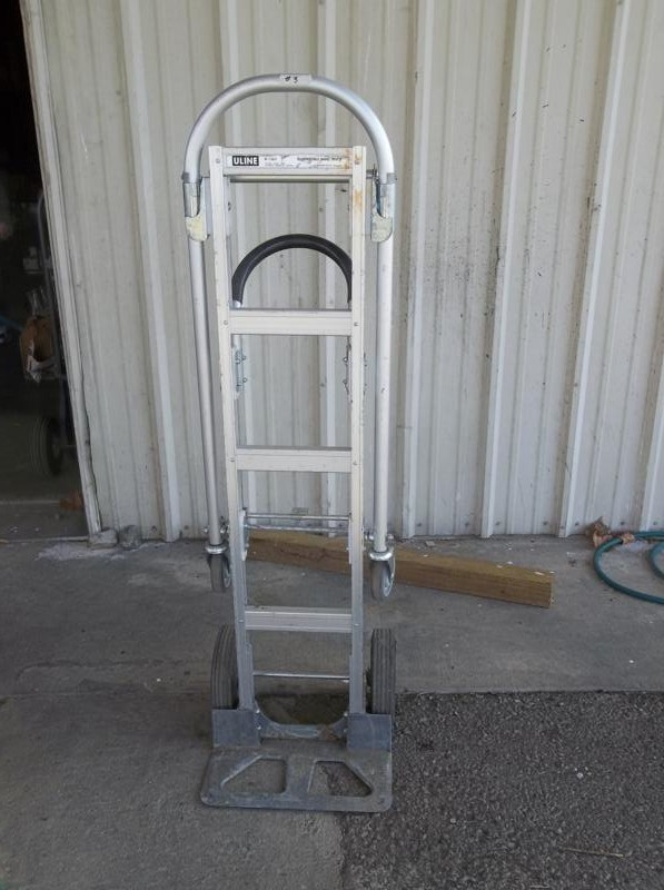 Lot #3 Heavy Duty Uline Hand Truck - Quickly Converts To Rolling Platform (main image)