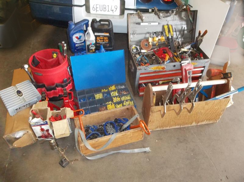 Lot #10 Huge Lot of Tools, Tool Boxes, Electrical, Automotive ... (main image)