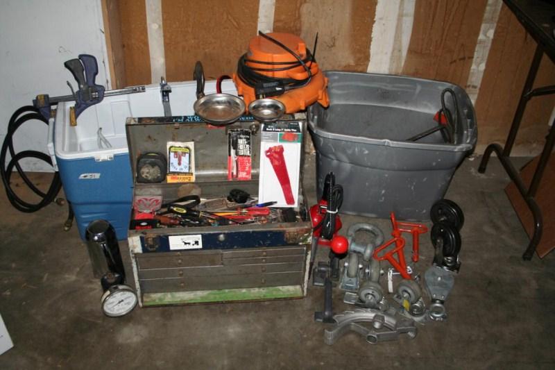 Lot #51 Tool Lot: Hand Tools, Power Tools, Tool Box And More (main image)