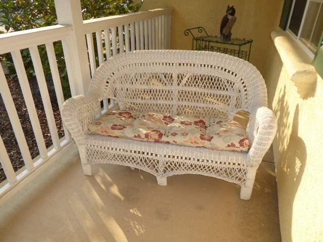 Lot # 2 - Adorable White Wicker Love Seat  (main image)