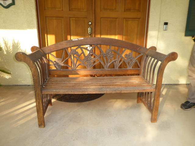 "Lot # 5 - Vintage ""Berkley Forge & Foundry"" Park Bench (Cast Iron & Oak)  (main image)"