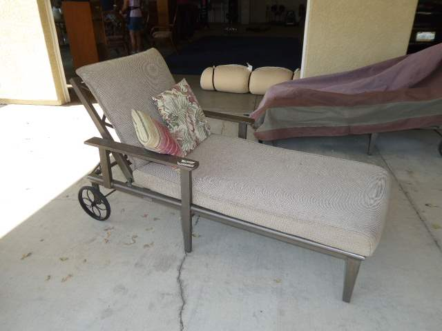 """Lot # 29 -  """"Orchard Supply"""" Chaise Lounge Chair W/Cover  (main image)"""