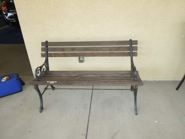 Lot # 31 - Outdoor Wood & Metal Park Bench  (main image)