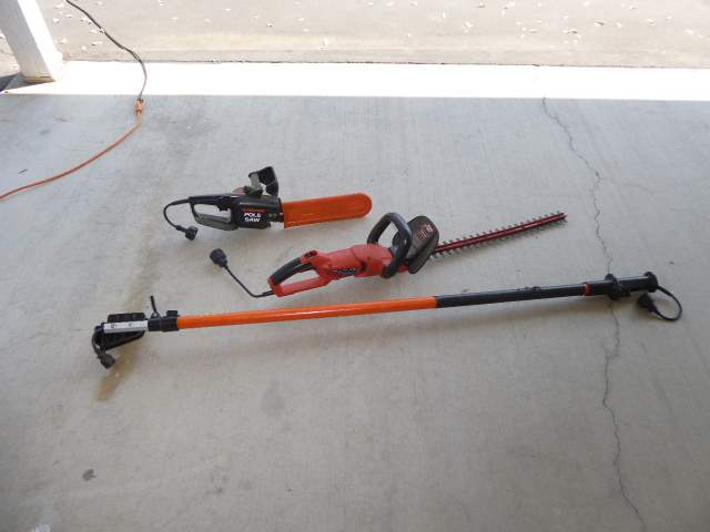 Lot # 34 - Hedge Trimmer & Electric Pole Saw   (main image)