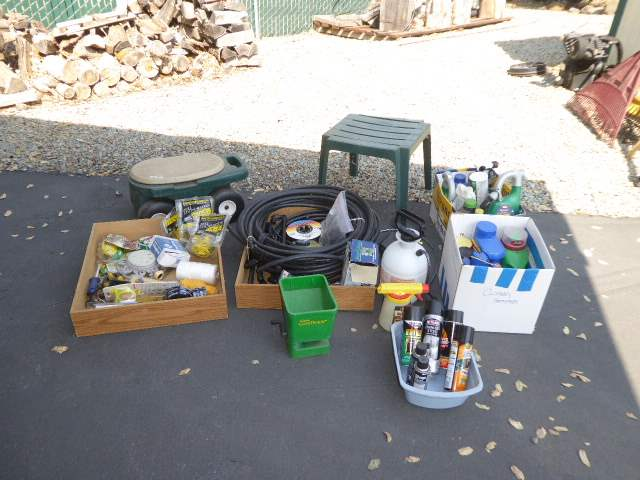 Lot # 35 - Sprinkler, Gardening, Insect & Lawn Supplies  (main image)