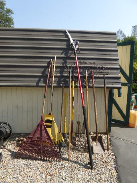 Lot # 36 - Tree Trimmer, Rakes & Other Farming Tools   (main image)