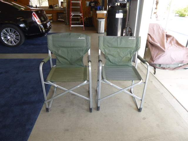 Lot # 45 - Two Outdoor Folding Chairs W/Covers   (main image)