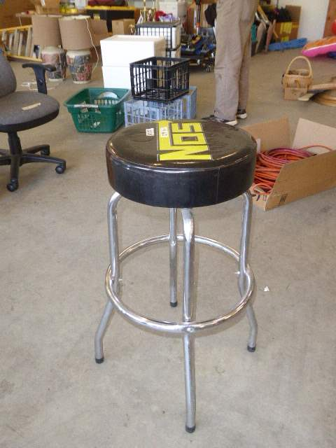 Lot # 58 - NOS Swivel Shop Stool  (main image)