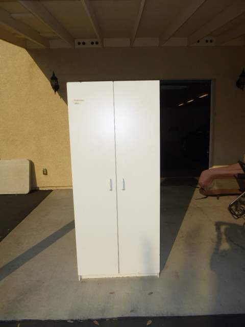 Lot # 66 - White Storage Cabinet  (main image)