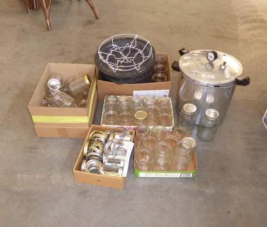 Lot # 70 - Large Presto Pressure Cooker, Canning Pot & Canning Jars  (main image)