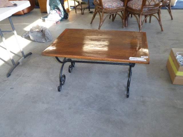 Lot # 73 - Unique Table W/Folding Metal Base  (main image)