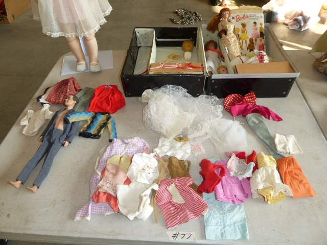 Lot # 77 - Ken &  Barbie, Mattel Clothes & Other Barbie Clothes & Vintage EEGEE Doll (main image)