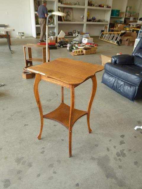 Lot # 79 - Vintage Tiered Wooden Table  (main image)