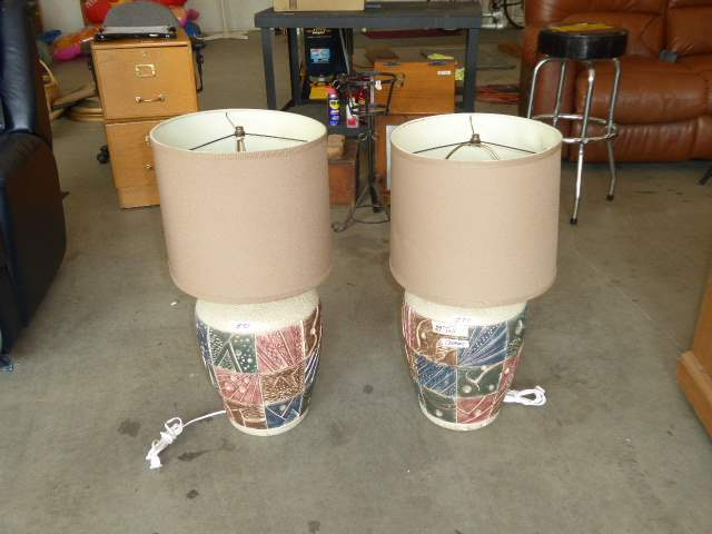 Lot # 80 - Two Matching Ceramic Table Lamps (main image)