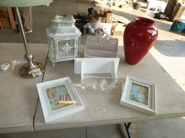 Lot # 82 - Framed Prints, Handblown Ship In A Bottle, Table Lamp & More  (main image)