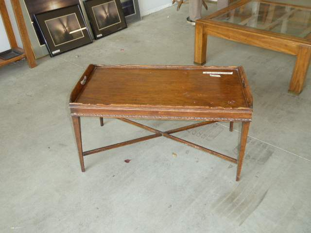 Lot # 85 - Vintage Wooden Tray Table  (main image)