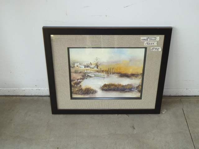 Lot # 92 - Framed Original Watercolor  (main image)
