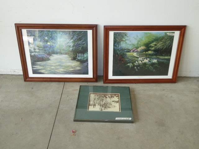 "Lot # 93 - Framed Prints ""Magnolia Gardens"" & ""Summer Peace"" (main image)"