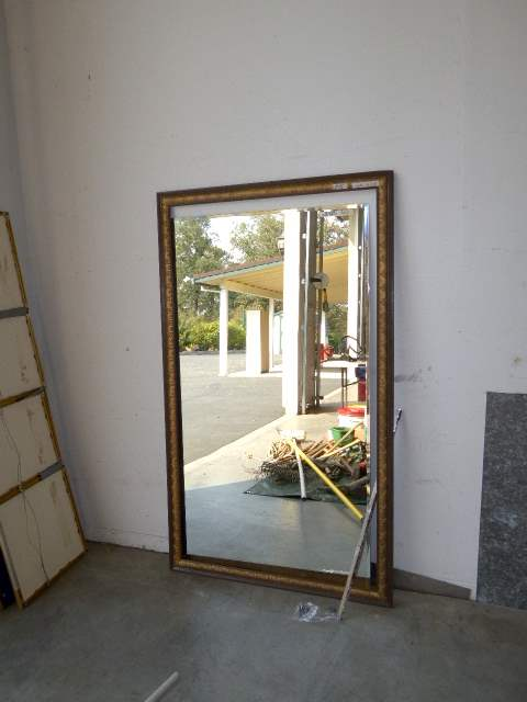 Lot # 95 - Large Wall Mirror W/Wooden Frame  (main image)