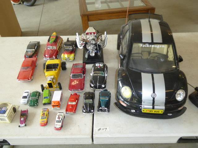 Lot # 119 - Remote Control VW Bug & Collectible Toy Cars  (main image)