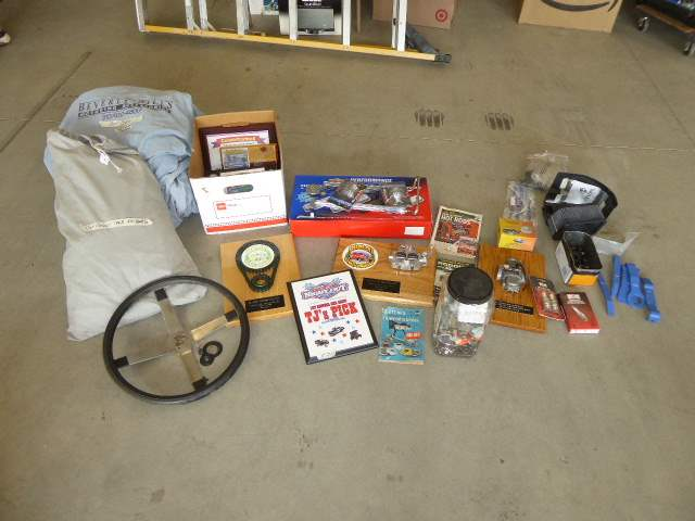Lot # 121 - Car Parts, Car Show Awards, Hardware & Car Covers  (main image)