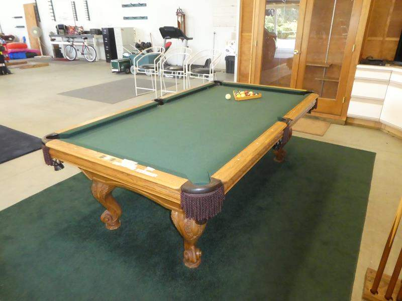 """Lot # 105 - Super Nice High Quality Designer Series - """"Delta Queen"""" Pool Table made by """"GoldenWest"""" Portland, Oregon (main image)"""