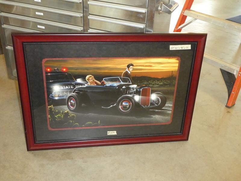 "Lot # 109 -  ""Elvis"" Print Nicely Framed behind Glass (main image)"