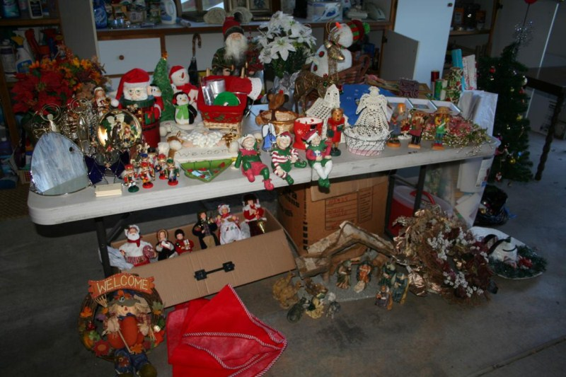Lot #71 Extra Large Christmas Lot - Ornaments, Tree, Nativity, Tons of Stuff (main image)