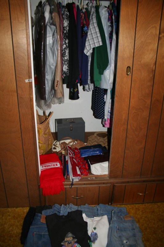 Lot #96 - Contents of Closet, Women's Clothes #2 - Jackets, Handbags, 501 Jeans & More (main image)