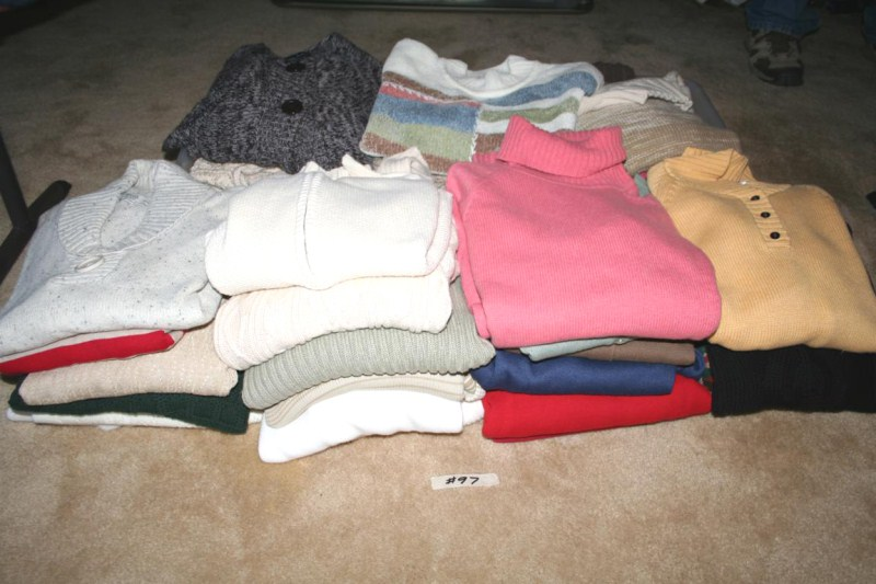 Lot #97 - Last Lot of Sweaters - Button Down, Zip-Up and Turtle Neck (main image)
