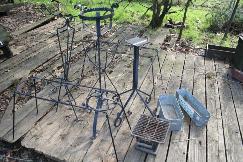 Lot #7 - A Variety of Vintage Wrought Iron Plant Stands (main image)