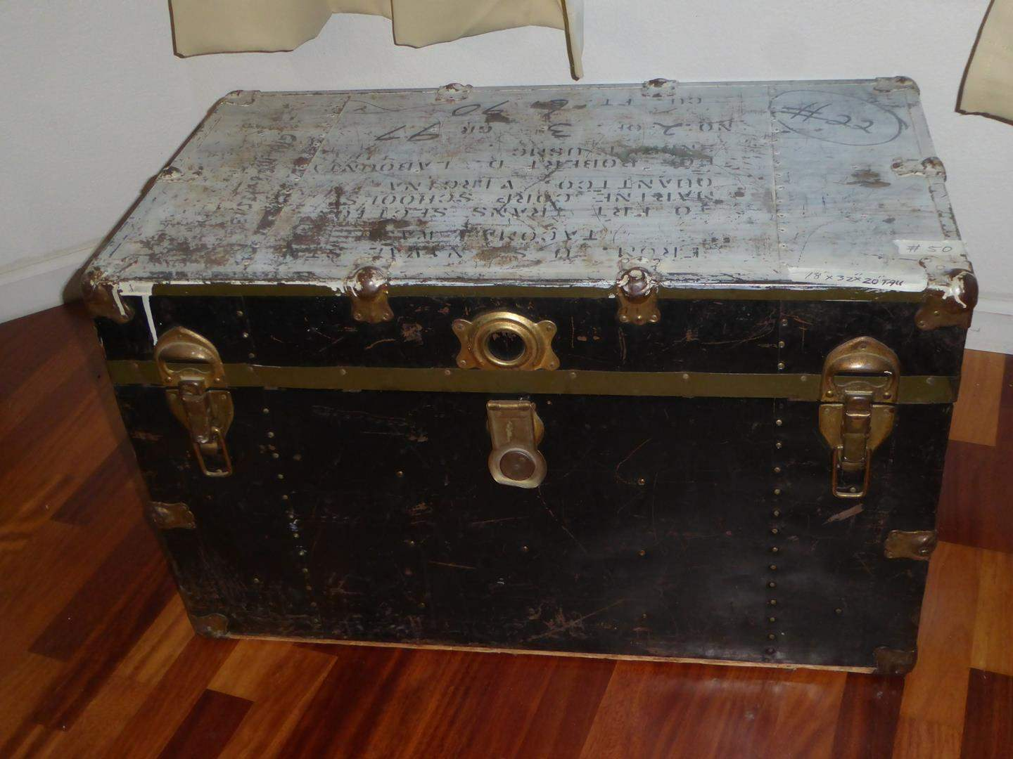 Lot # 50 - Vintage Storage Trunk  (main image)