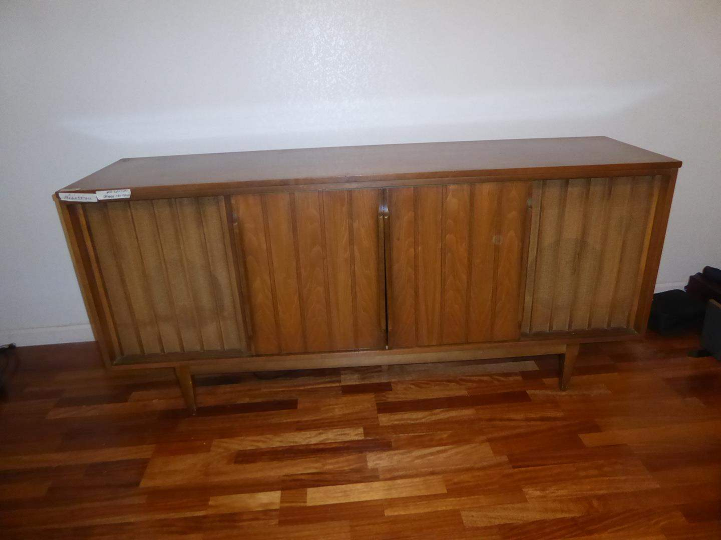 Lot # 63 - Vintage Mid Century TVCredenza turned in Modern TV Stand (main image)