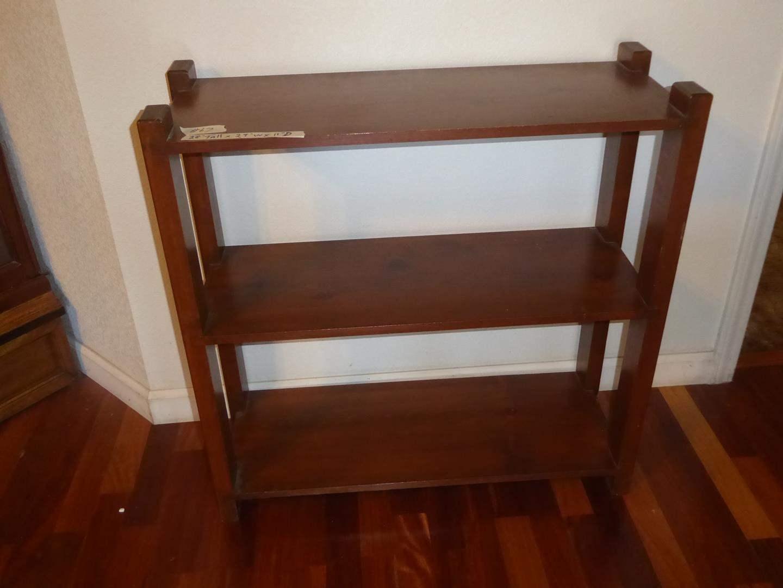 Lot # 67 - Small Three Tier Wooden Shelf (main image)