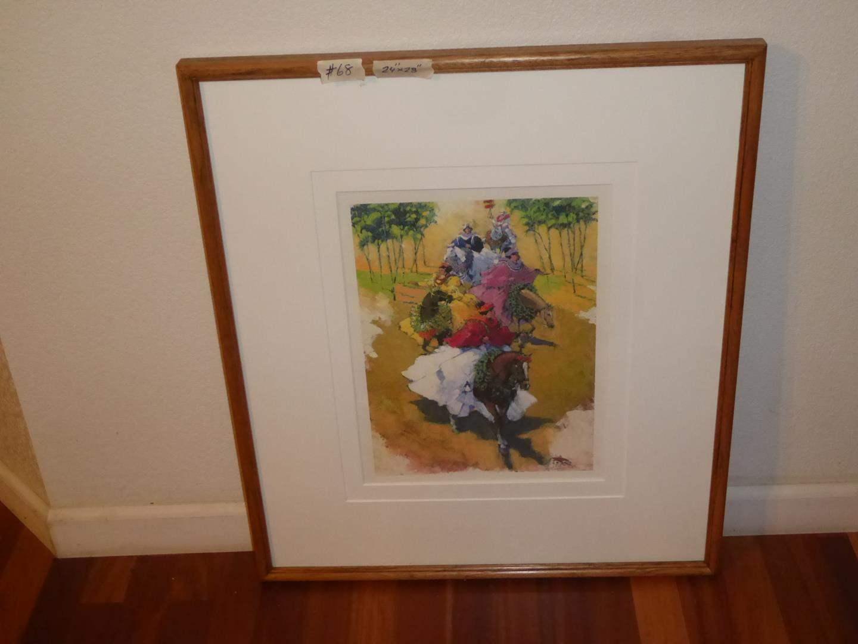 """Lot # 68 - Framed Print """"new! PA'U PARADE RIDERS"""" by Alfred Furtado 17/500 (main image)"""