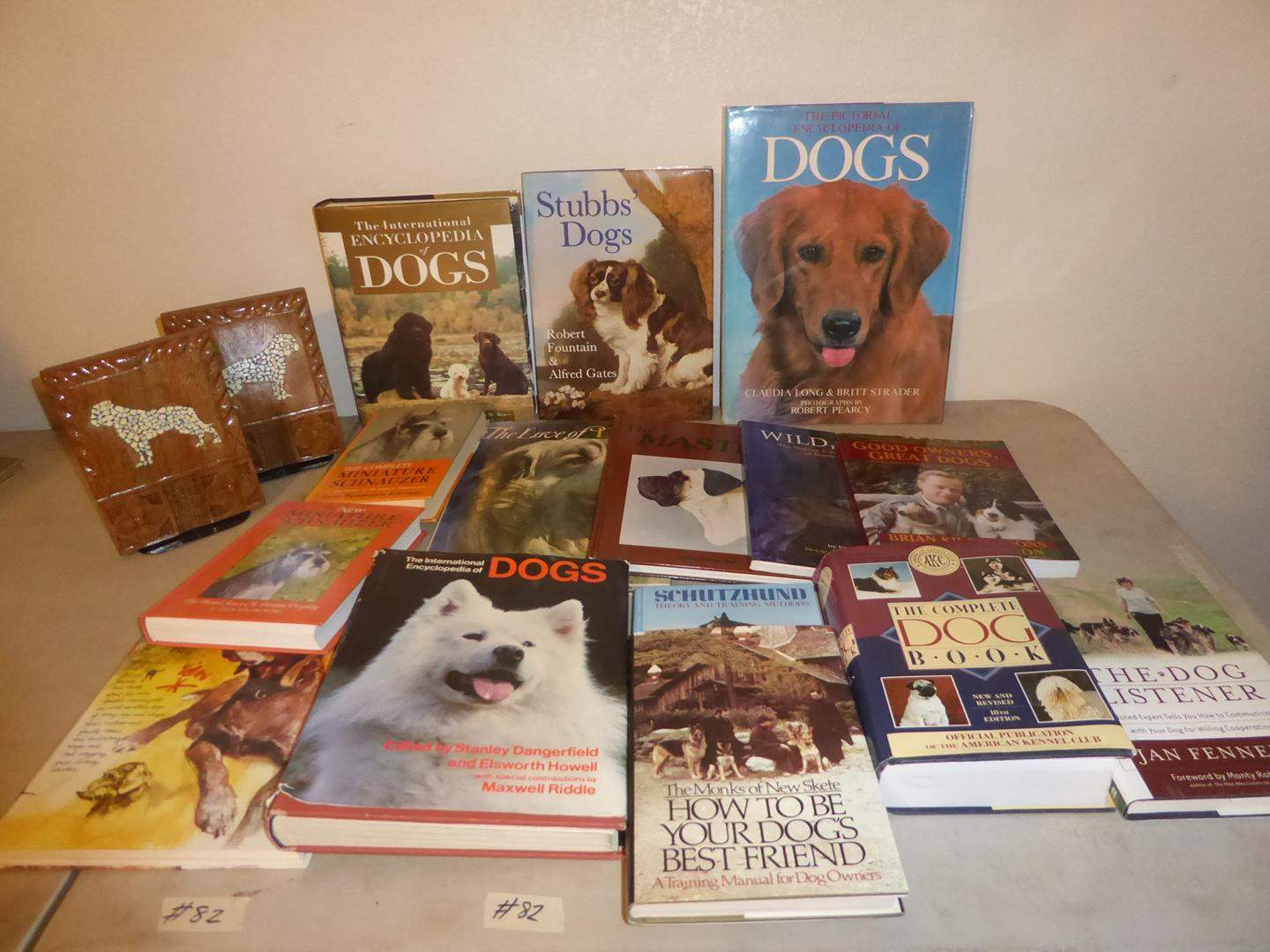 Lot # 82 - Dog Books Collection & Dog Bookends (main image)