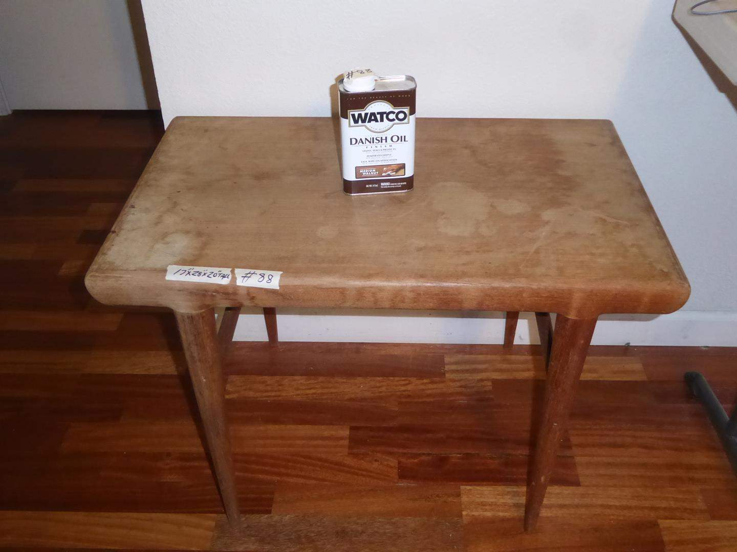 Lot # 88 - Vintage Mid Century Silkeborg Danish End Table & Danish Oil (main image)