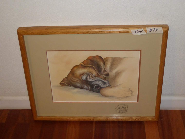 "Lot # 89 - Framed Colored Pencil Drawing ""Maxine"" by Barbara Rhinehart (main image)"