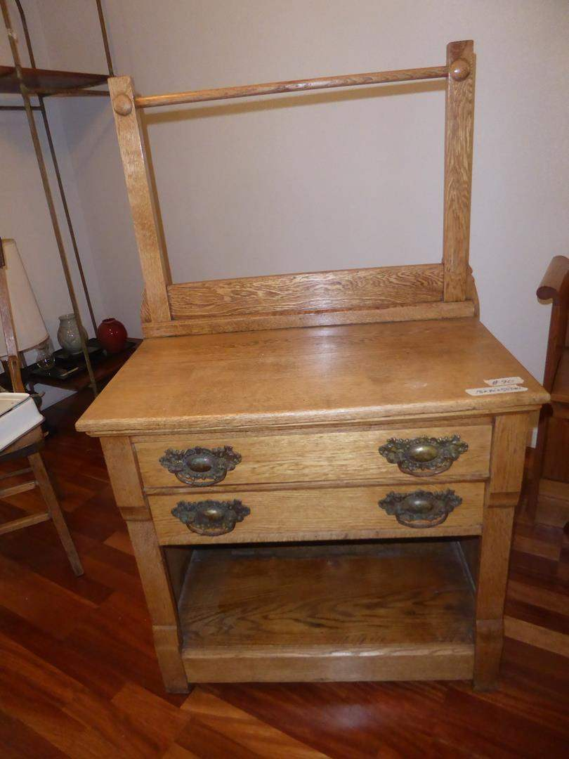 Lot # 90 - Antique Wooden Wash Stand (dovetailed drawers) (main image)