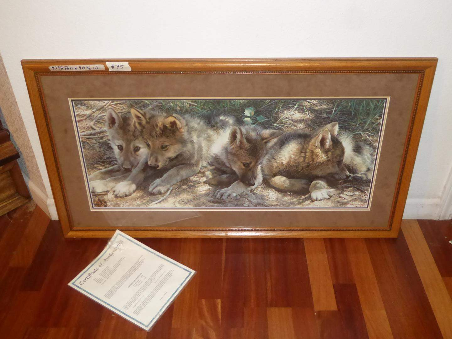 """Lot # 95 - Framed Print """"Pick of the Pack"""" by Carl Brenders 947/4500 (main image)"""