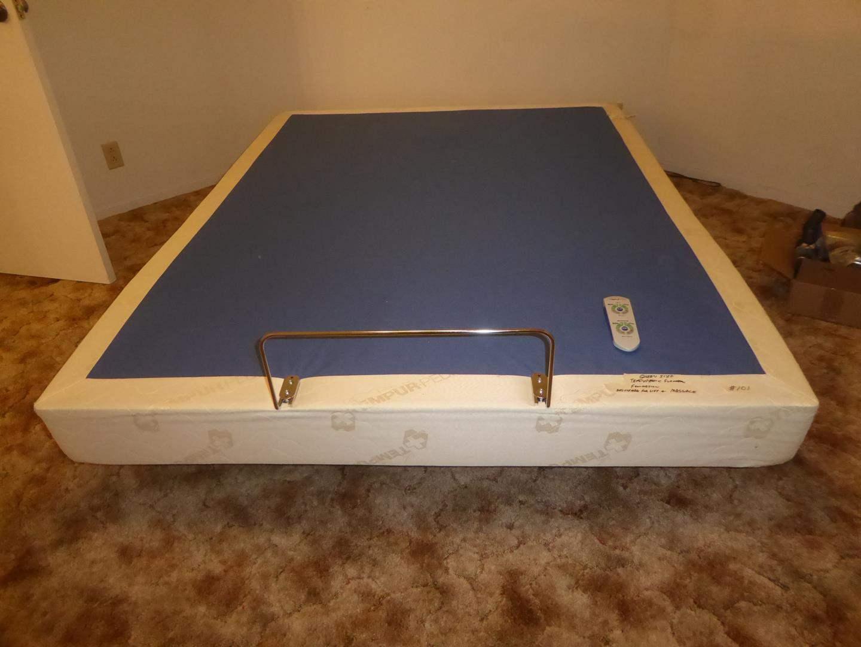 Lot # 101 - Queen Size Tempur-Pedic Box Spring w/Adjustable Lift & Massage w/Controller (main image)