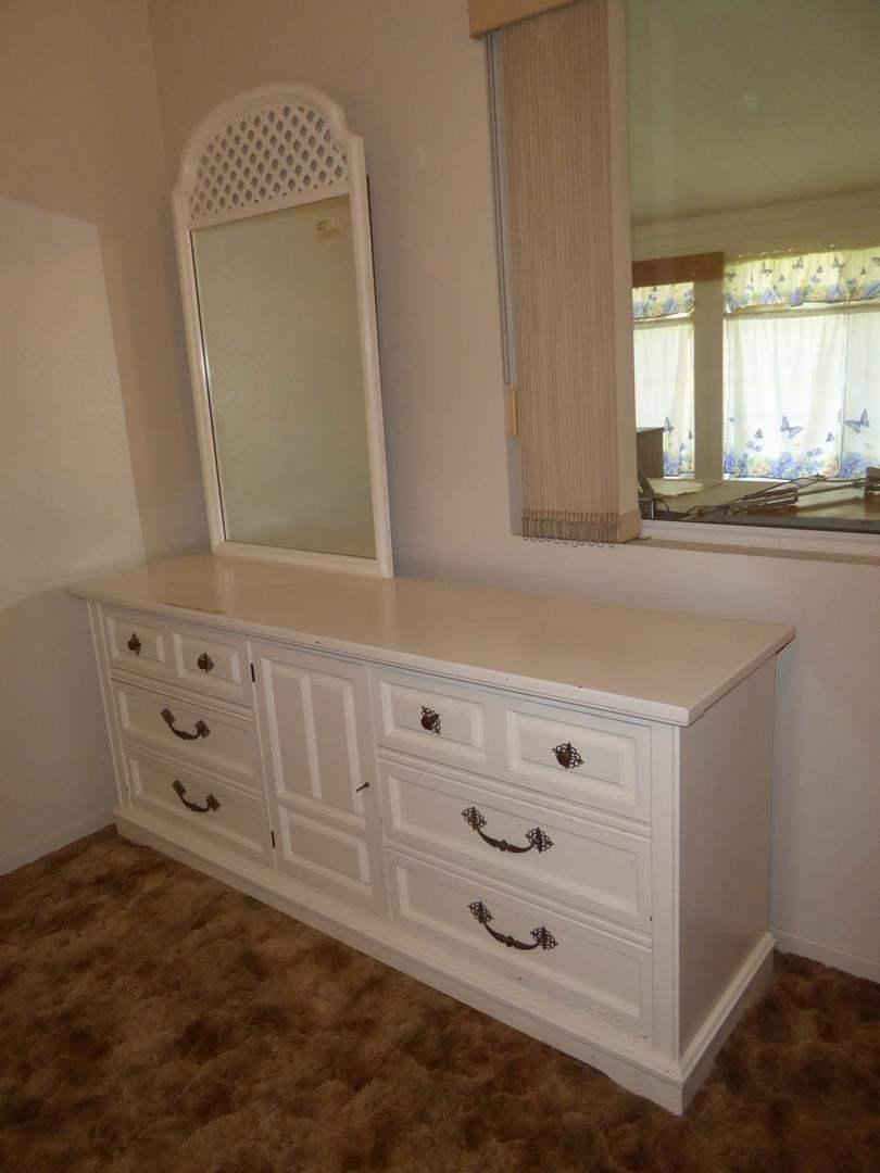 Lot # 102 - Bassett Furniture Painted White 9 Drawer Dresser w/Mirror (dovetailed drawers) (main image)