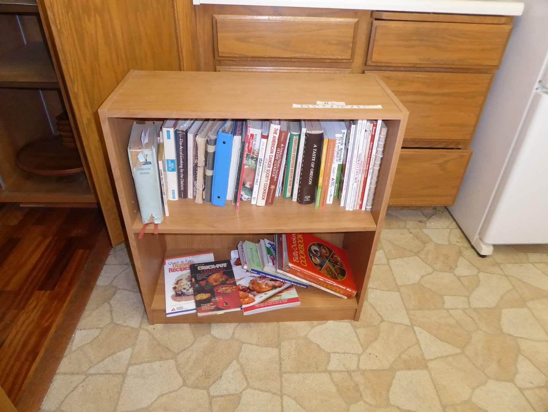 Lot # 8 - Book Shelf & Cook Books  (main image)